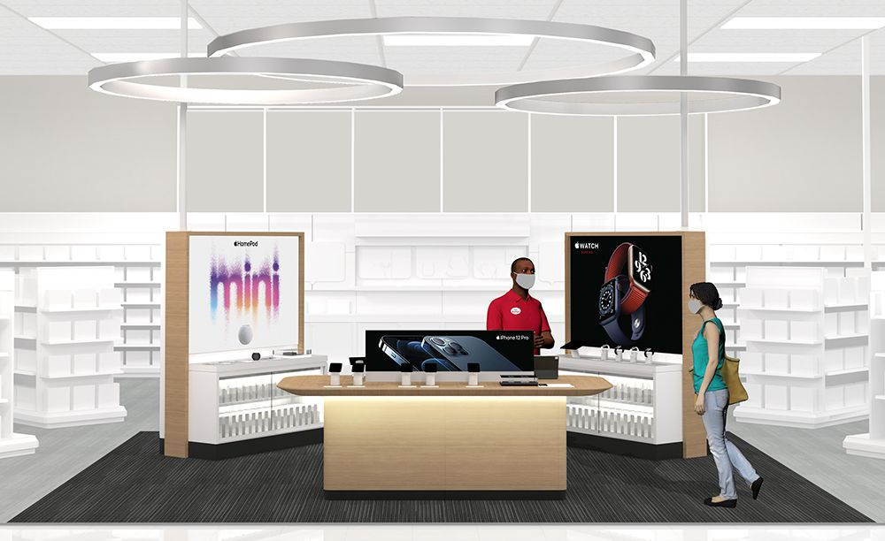 Target said it's adding Apple branded shops into its electronics departments in 2021. No genius bar, though. That service remains exclusive to Apple stores.