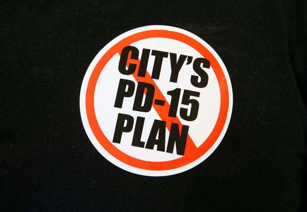 Expect to see a lot of these at Dallas City Hall on Sept. 11, when council is expected to vote on the PD-15 redo.