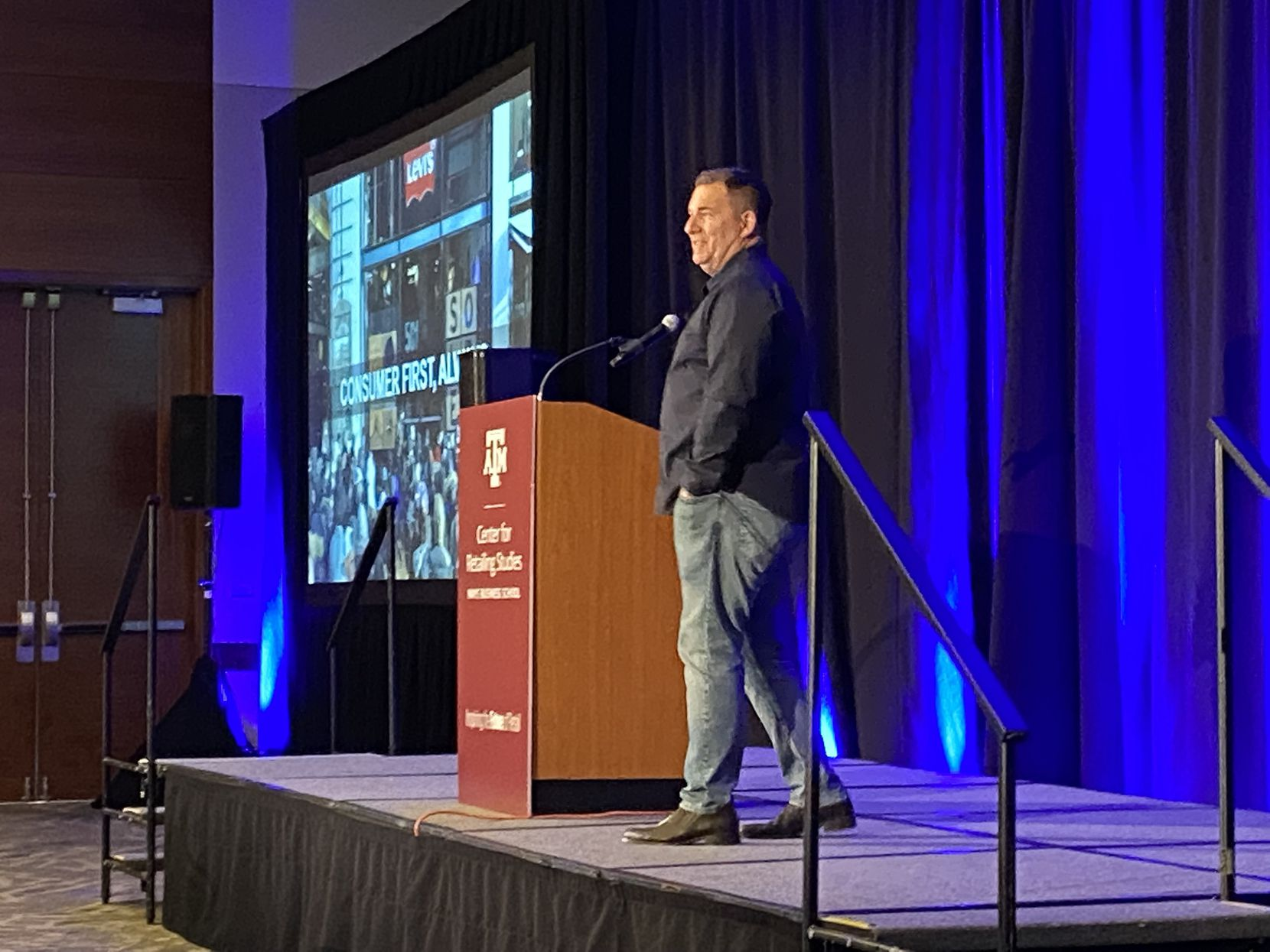 Seth Ellison, chief commercial officer, Levi Strauss & Co., spoke at the annual Texas A&M Retailing Summit in Dallas at the Westin Galleria.