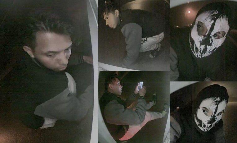 Imágenes del delincuente al momento del robo a un carro el 24 de enero en Mesquite.