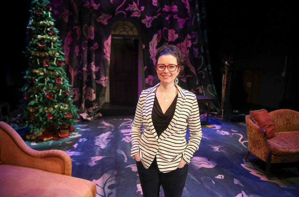 WaterTower Theatre artistic director Joanie Schultz is pictured on the set of WaterTower Theatre's A Doll's House, which she adapted from the Henrik Ibsen play and is directing at Addison Theatre Centre.