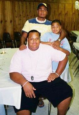 Dak Prescott (middle right) and his brothers Jace (front) and Tad. All three played football at Haughton High School in Haughton, La. They grew up in Princeton, La.
