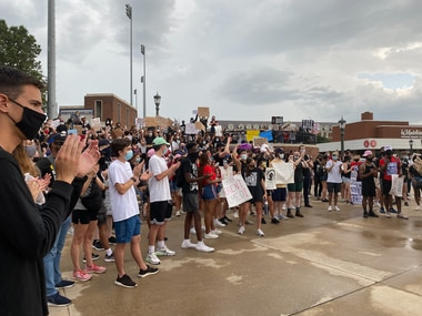 Southern Methodist University students at Saturday's demonstration said the experiences of Black students at the university reflect issues at the center of ongoing protests around the country.