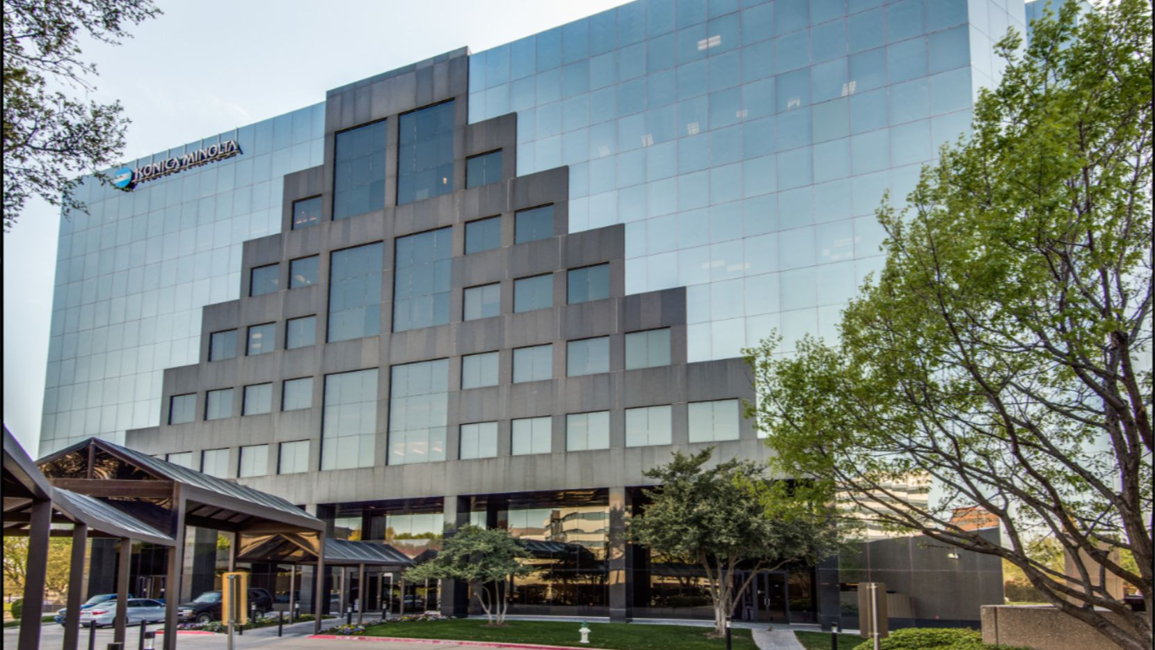 The Landmark office building was developed in 1985 and is near the Dallas North Tollway.