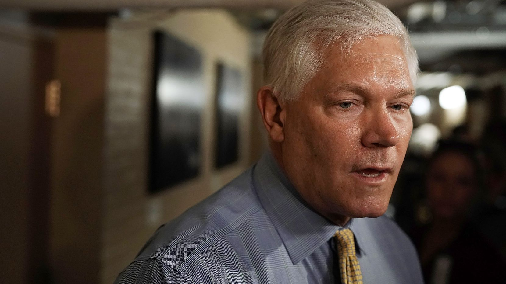 U.S. Rep. Pete Sessions, R-Dallas, speaks to members of the media as he arrives for a Republican conference meeting on Capitol Hill.