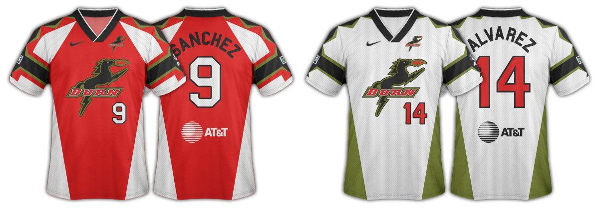 1996 Dallas Burn original jerseys