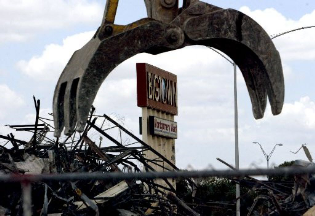 Demolition of Big Town Mall in Mesquite took place July 25, 2006, but 1960s-era construction sparked by the area's first indoor mall remains at the city's entryway from Dallas.