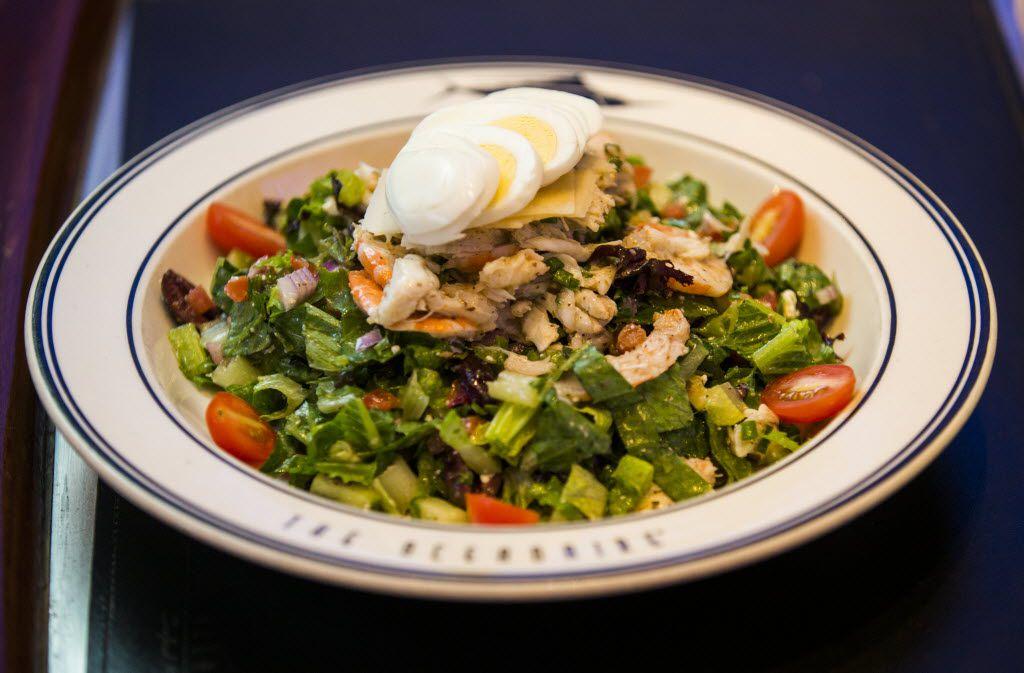 A seafood chopped salad