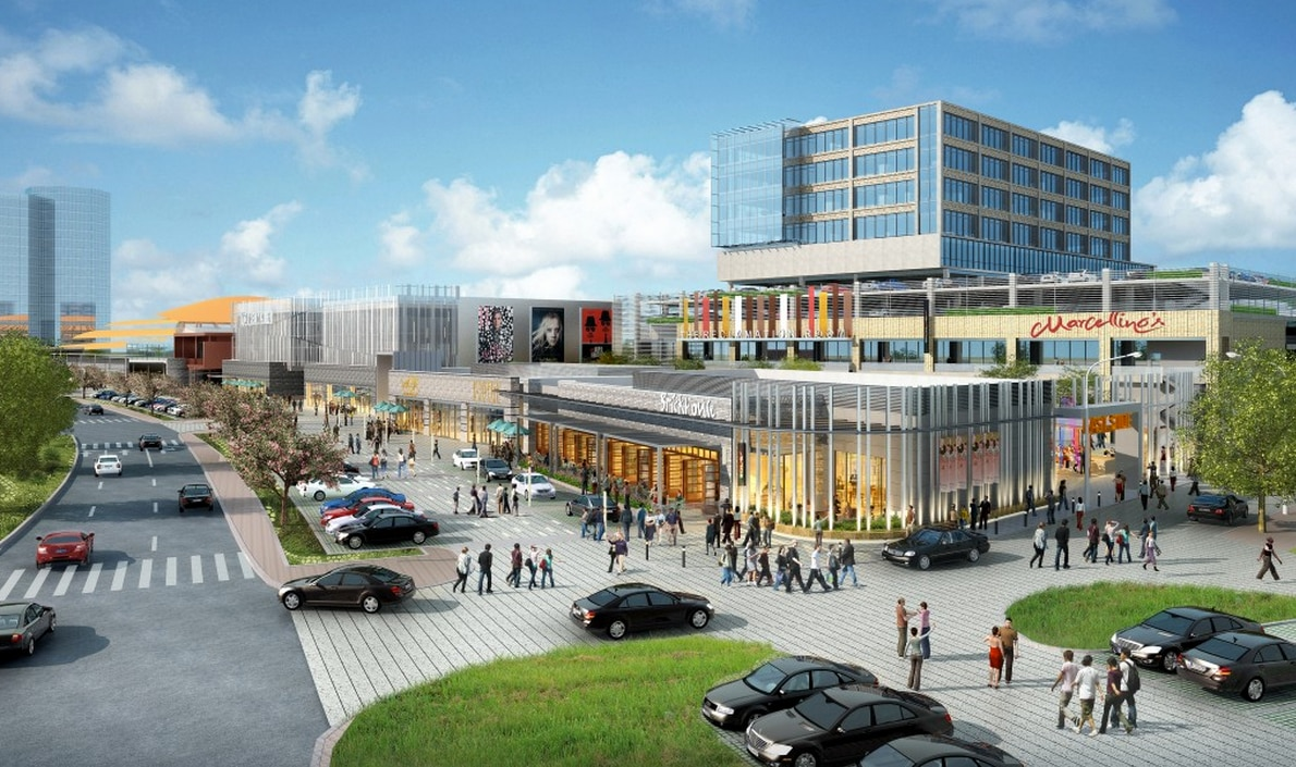 """The president of the development company describes the Music Factory in Irving as """"one big parcel"""" that will include a movie theater, 20 restaurants and office space. A stone's throw away is the Irving Convention Center and the not-yet-built Irving Convention Center Hotel."""