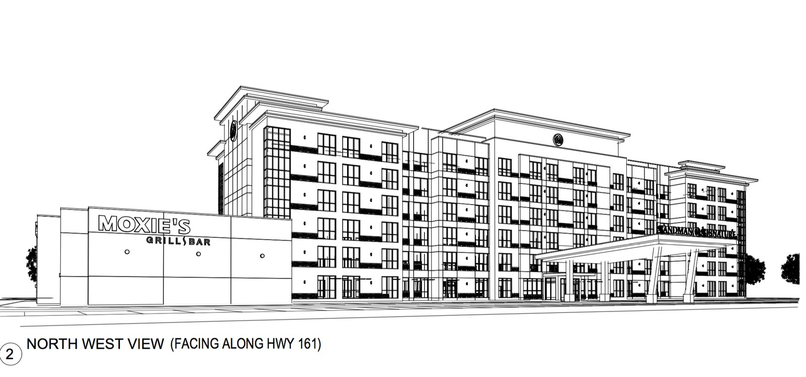 Northland Properties new hotel will front on S.H. 161.