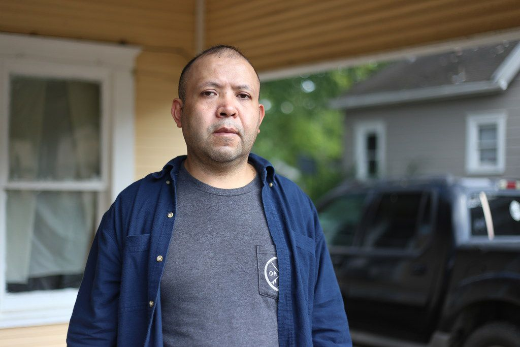 Armando Rivera stands outside his home in Commerce, TX, Oct. 7, 2018. The Mexican immigrant has lived in the U.S. since 1995 and is hopeful of obtaining legal status. (Obed Manuel/Staff)