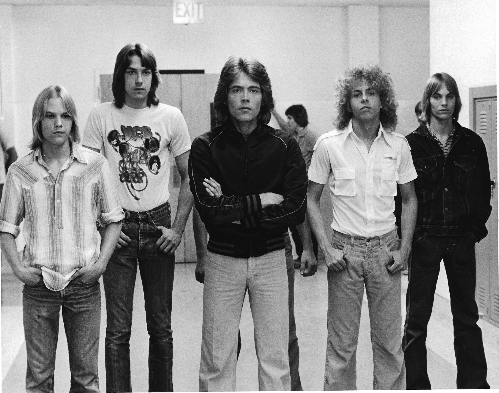 Mark Ridlen, second from right, was a member of the fictional band Rapid Fire, as well as real-life local bands Quad Pi and Lithium X-Mas