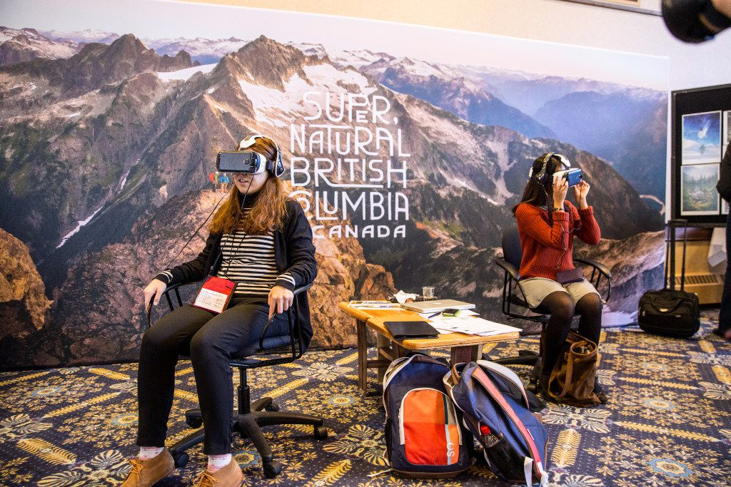Using Oculus Rift technology, viewers are immersed into British Columbia's winter sports via interactive 3-D video.