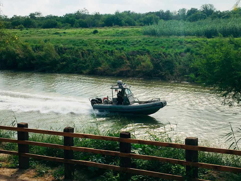 A U.S. Border Patrol boat navigates the Rio Grande near where the bodies of Salvadoran migrant Oscar Alberto Martinez Ramirez and his nearly 2-year-old daughter Valeria were found, in Matamoros, Mexico, Monday, June 24, 2019, after they drowned trying to cross the river to Brownsville, Texas. Martinez' wife, Tania told Mexican authorities she watched her husband and child disappear in the strong current.