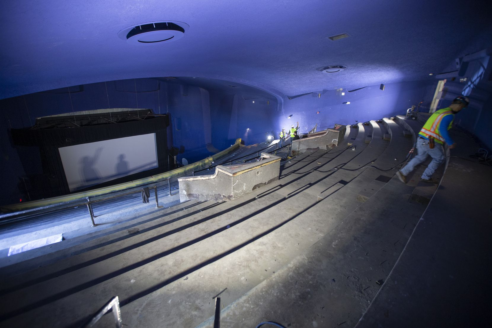 The new theater will be accessible through the balcony's original stairwell, which has been closed to the public for 40 years.
