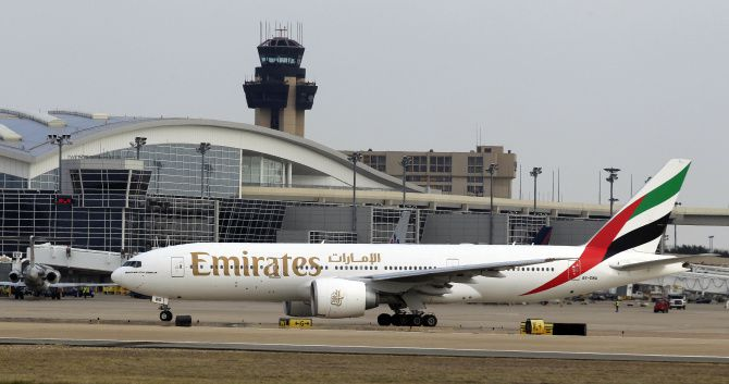 Emirates Airlines, based in Dubai, flies out of DFW International Airport and has the world's largest fleet of long-haul jets.