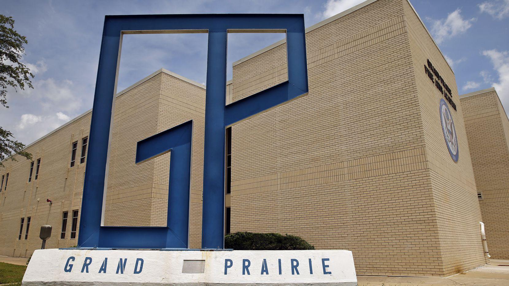 An exterior view of the Grand Prairie Fine Arts Academy in Grand Prairie, Texas, Thursday, June 25, 2020.