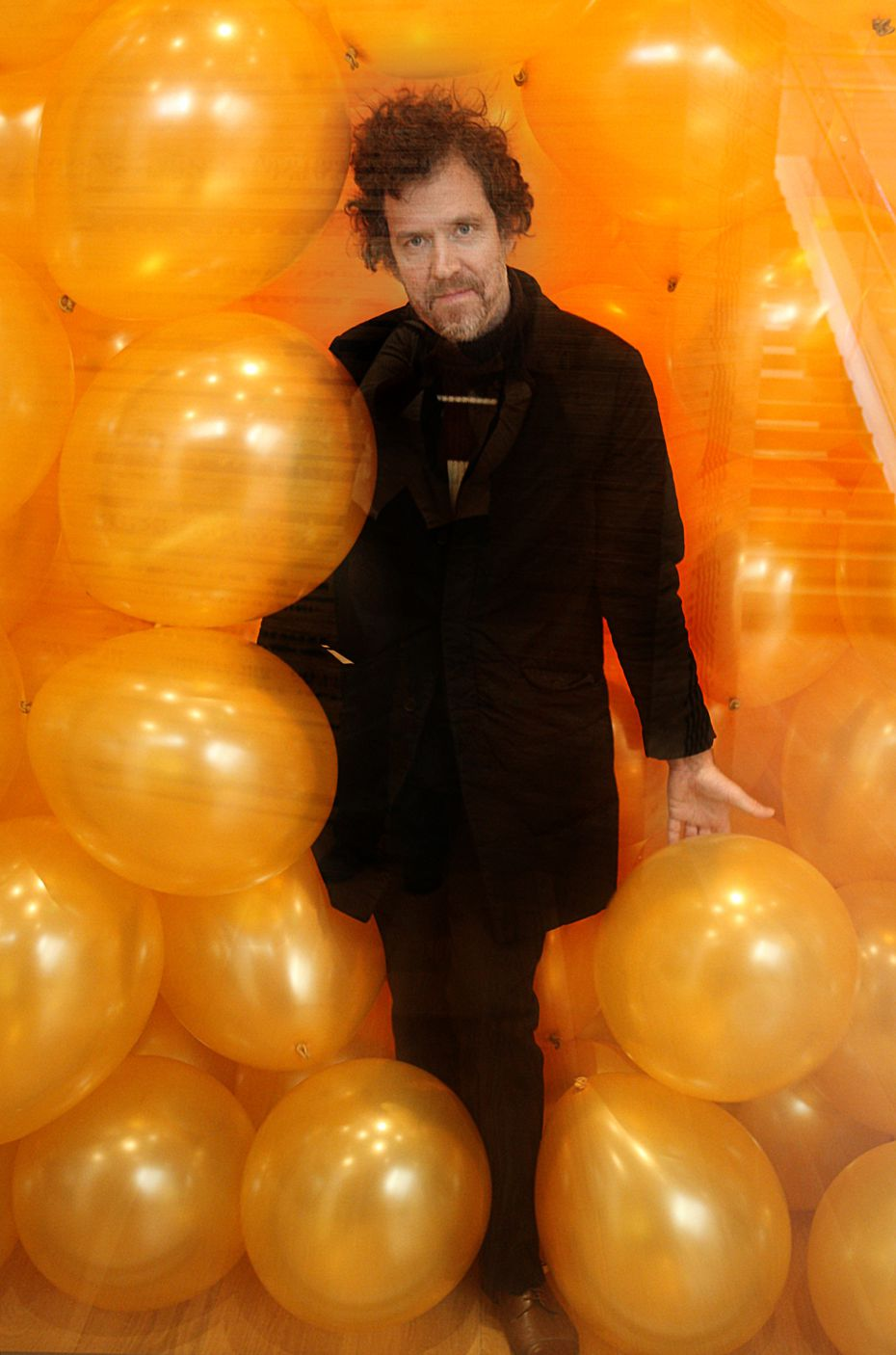 Martin Creed created a room full of balloons at the Nasher Sculpture Center in March 2011.