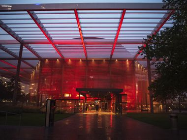 In September, arts venues across Dallas and the country, including the Winspear Opera House, were lit red as part of a nationwide effort to draw attention to an industry in crisis.