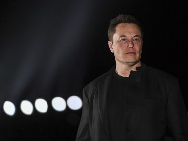 Tesla CEO Elon Musk has taken to Twitter to argue for an end to shelter-in-place orders. He is photographed Sept. 28, 2019, in Brownsville, Texas.