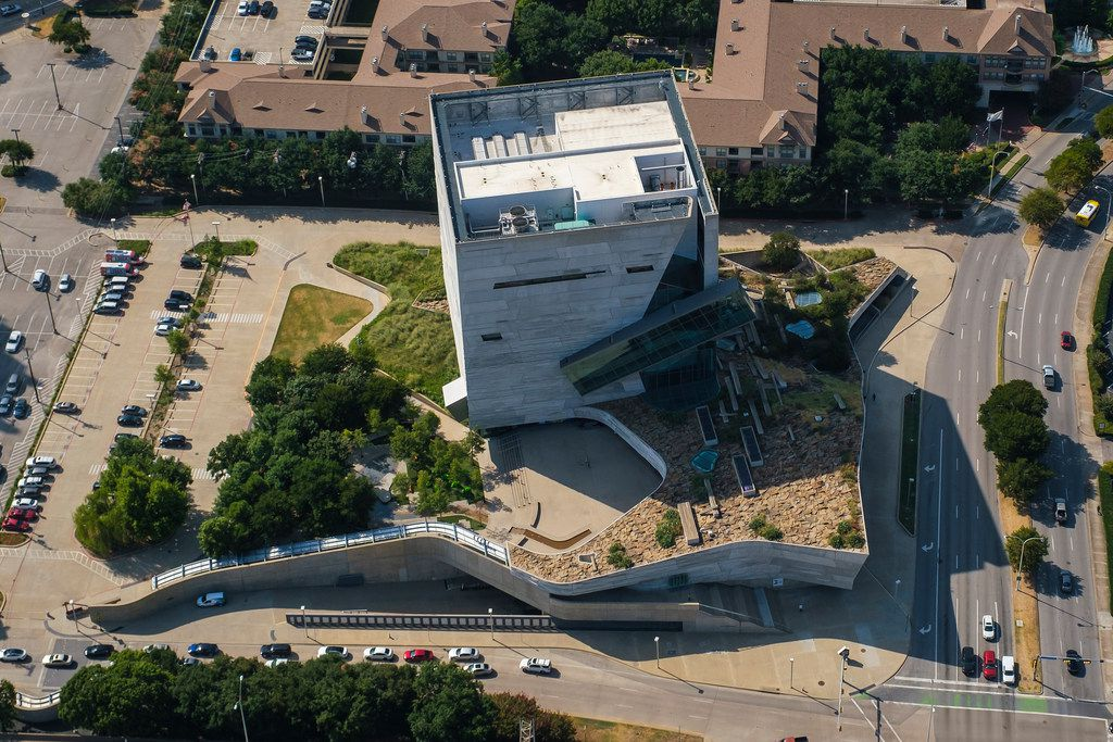 Aerial view of roof of the Perot Museum of Nature and Science photographed on Wednesday, Aug. 21, 2019, in Dallas.