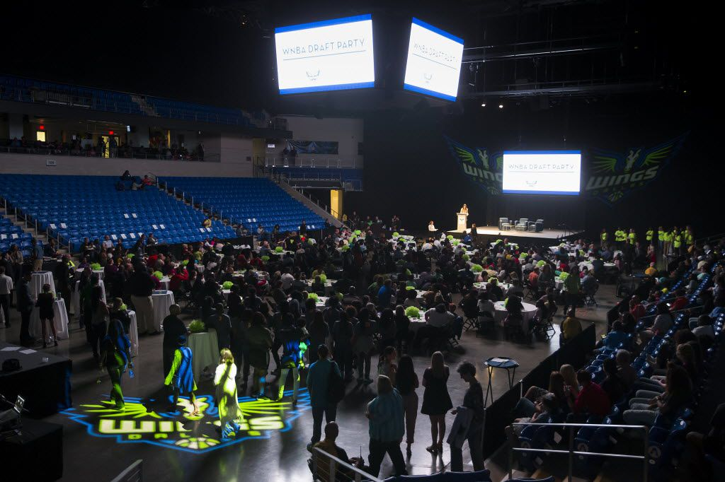 The Dallas Wings WNBA draft night party fills the College Park Center on the campus of the University of Texas at Arlington on Thursday, April 14, 2016, in Arlington. (Smiley N. Pool/The Dallas Morning News)