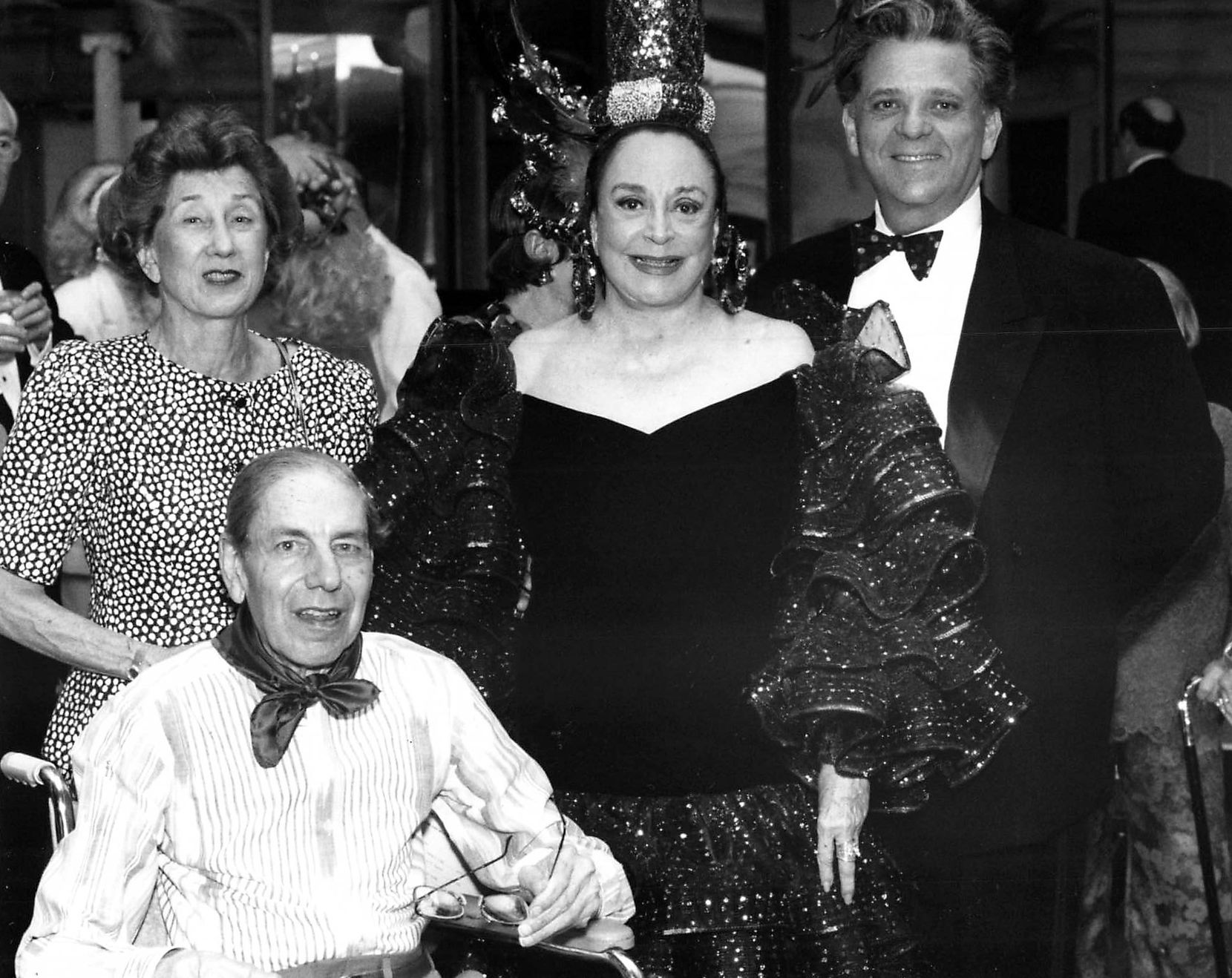 Left to right: Louise and Dick Eiseman, Nancy Hamon and Victor Costa are shown in a Fete Set photo from May 7, 1993.