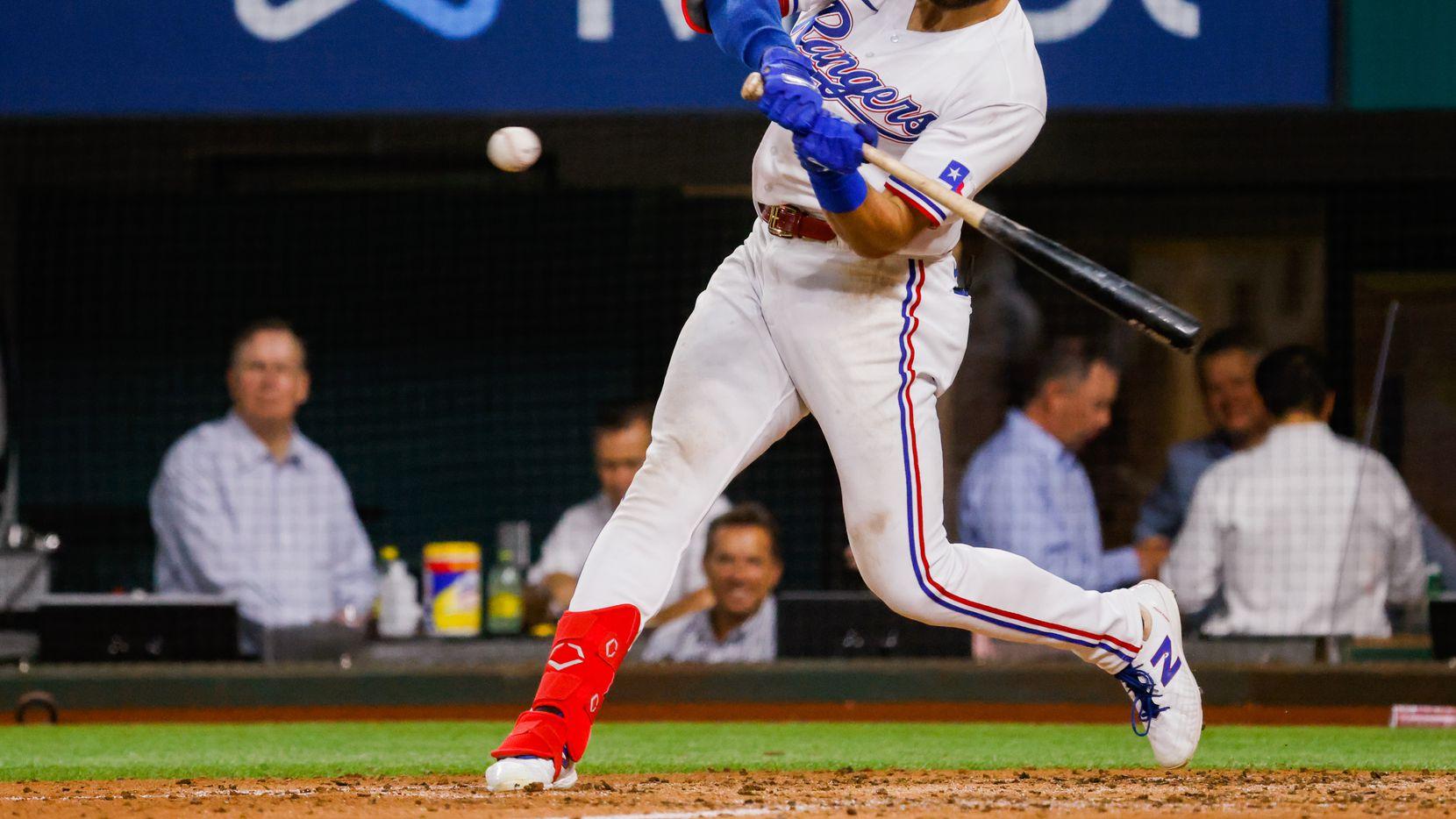 El jugador de los Rangers de Texas, Joey Gallo, ha cambiado su forma de atacar sus turnos al bate pero eso le ha costado sumar cuadrangulares.