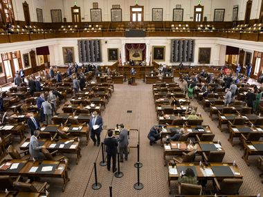 The House chamber in the Texas Capitol in Austin on Wednesday, March 17, 2021. (Juan Figueroa/ The Dallas Morning News)