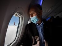 Southwest Airlines CEO Gary Kelly aboard a test-flight of one the company's 737 Max aircraft in December 2020.