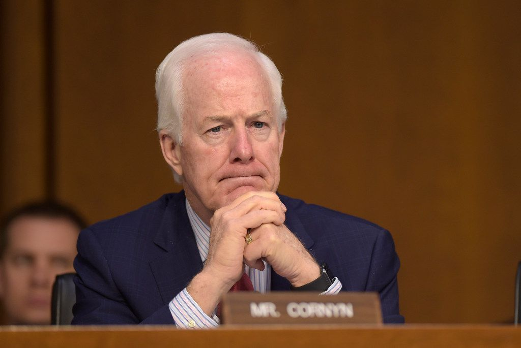 Sen. John Cornyn, R-Texas, listens to testimony during a hearing about the Foreign Intelligence Surveillance Act, on Capitol Hill in Washington on June 7, 2017.