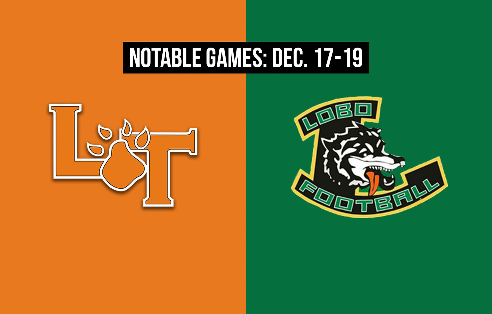 Notable games for the week of Dec. 17-19 of the 2020 season: Lancaster vs. Longview.
