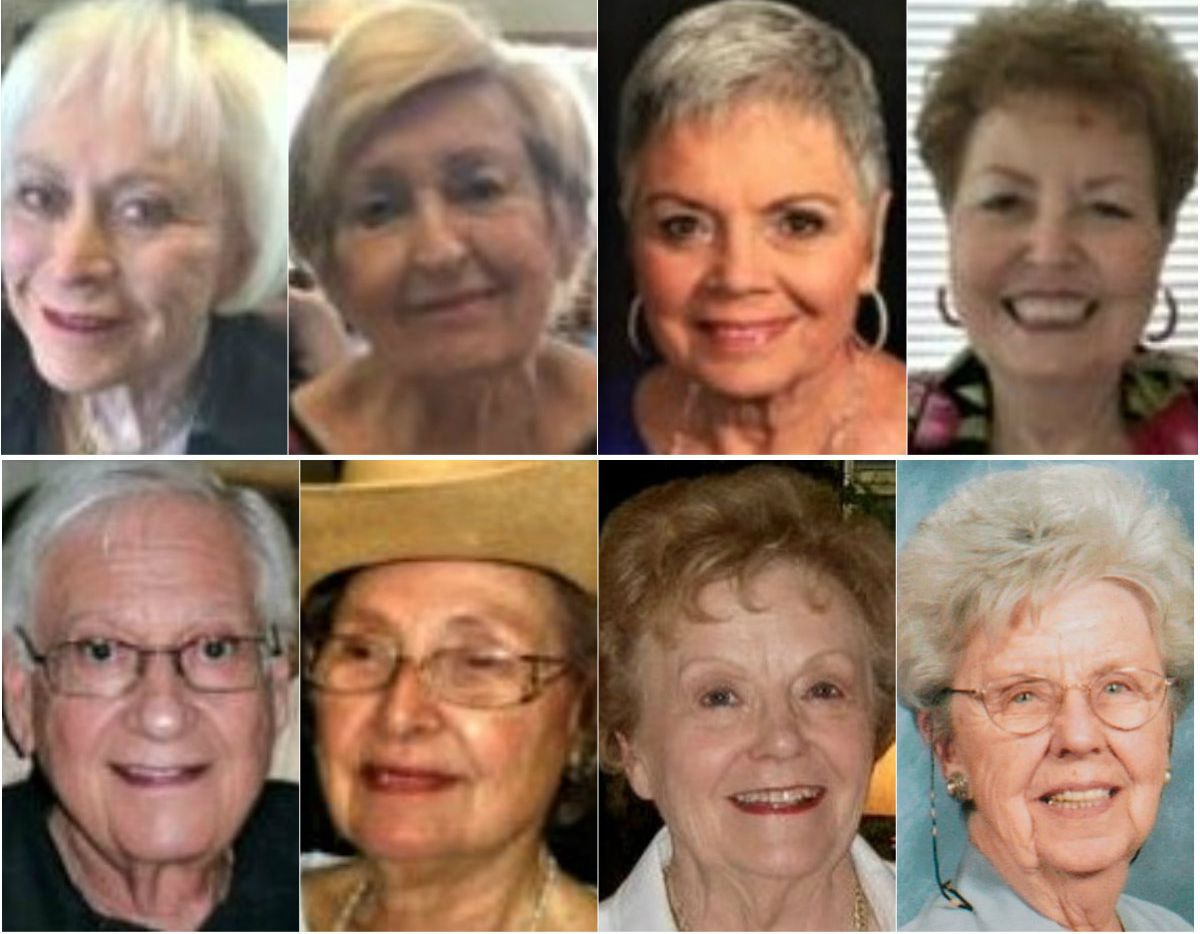 A lawsuit against The Tradition-Prestonwood alleges that Billy Chemirmir — posing as a maintenance worker at the senior living home -- killed (top row from left) Joyce Abramowitz, Leah Corken, Glenna Day, Juanita Purdy and (bottom row from left) Solomon Spring, Margaret White, Norma French and Doris Gleason. Capital murder indictments previously were filed in the deaths of French and Gleason. No charges have been filed in the other deaths.