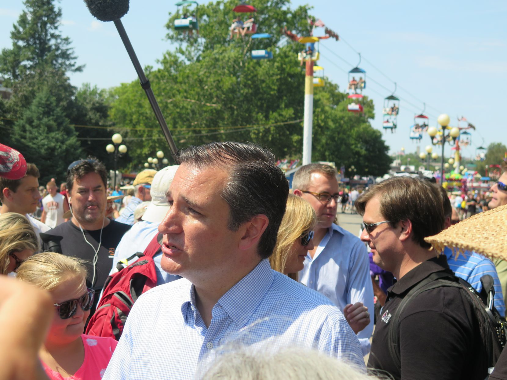 Sen. Ted Cruz campaigned for the GOP presidential nomination at the Iowa State Fair on Aug. 21, 2015.