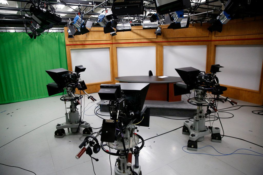The Pederson Broadcast Studio in the journalism complex at the Umphrey Lee Center at SMU in Dallas on Monday, May 14, 2018. SMU's independent student media company was set to be dissolved in May, forcing its student newspaper The Daily Campus under the control of the school's journalism department.
