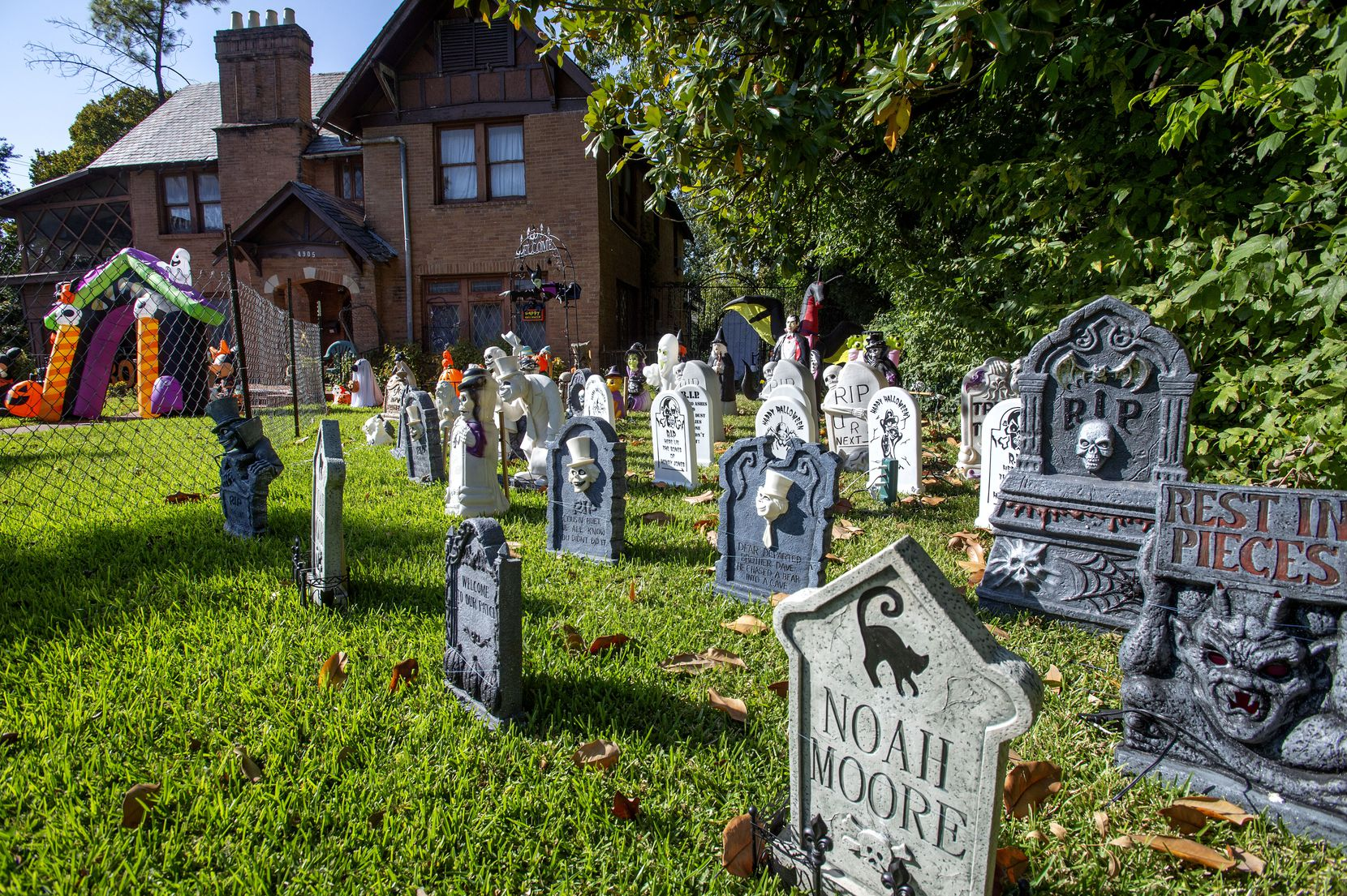 On a typical year, thousands of children flock to Swiss Avenue to trick-or-treat. This year, residents have decided to shut that tradition down. Decorations, though, are still encouraged.