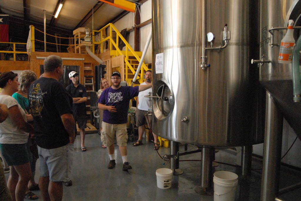 Tom Anderson is one of the three owners of Rabbit Hole Brewery. The Justin-based brewery is closing in mid-September 2019.
