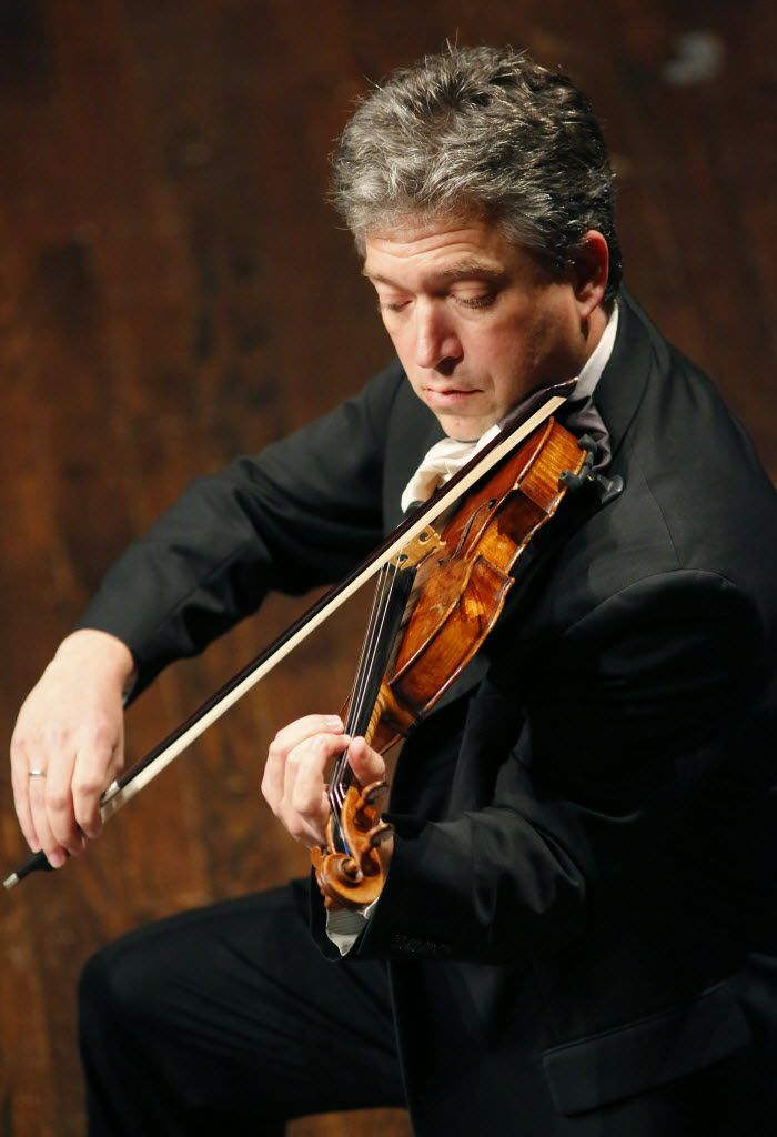 Curt Thompson played the violin with the Mimir Chamber Music Festival Concert at PepsiCo Recital Hall in Fort Worth in 2015.