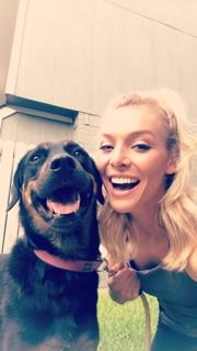 Hailey Cowan and her dog