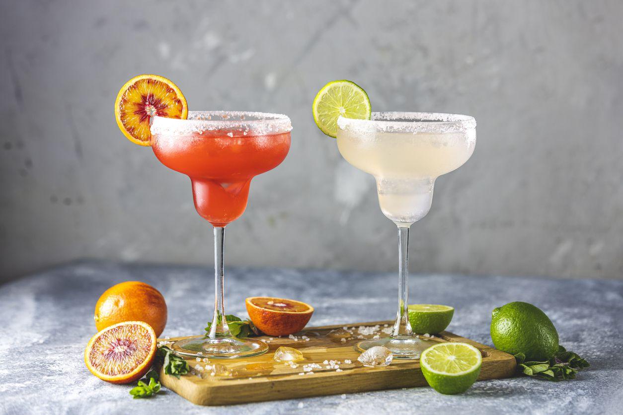 Margaritas de sabores con tequila.