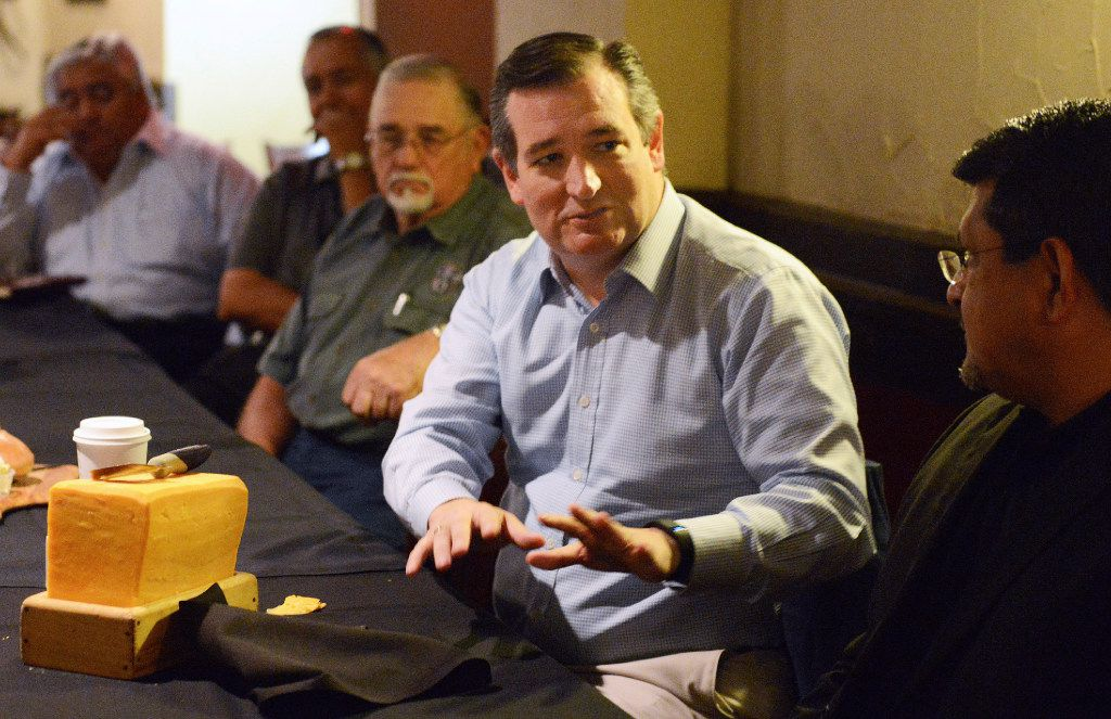 Sen. Ted Cruz met with local business, civic and educational leaders during a luncheon meeting May 20, 2017, at the Barn Door Restaurant in Odessa.