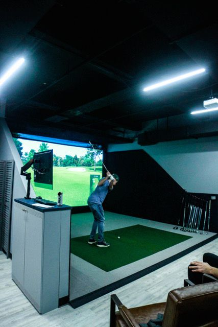 When The Turn opens, Proprietor D.J. Langer says it will have 10 indoor hitting bays. The shop will use TrackMan golf simulators, which allow guests to play virtually on golf courses around the world.