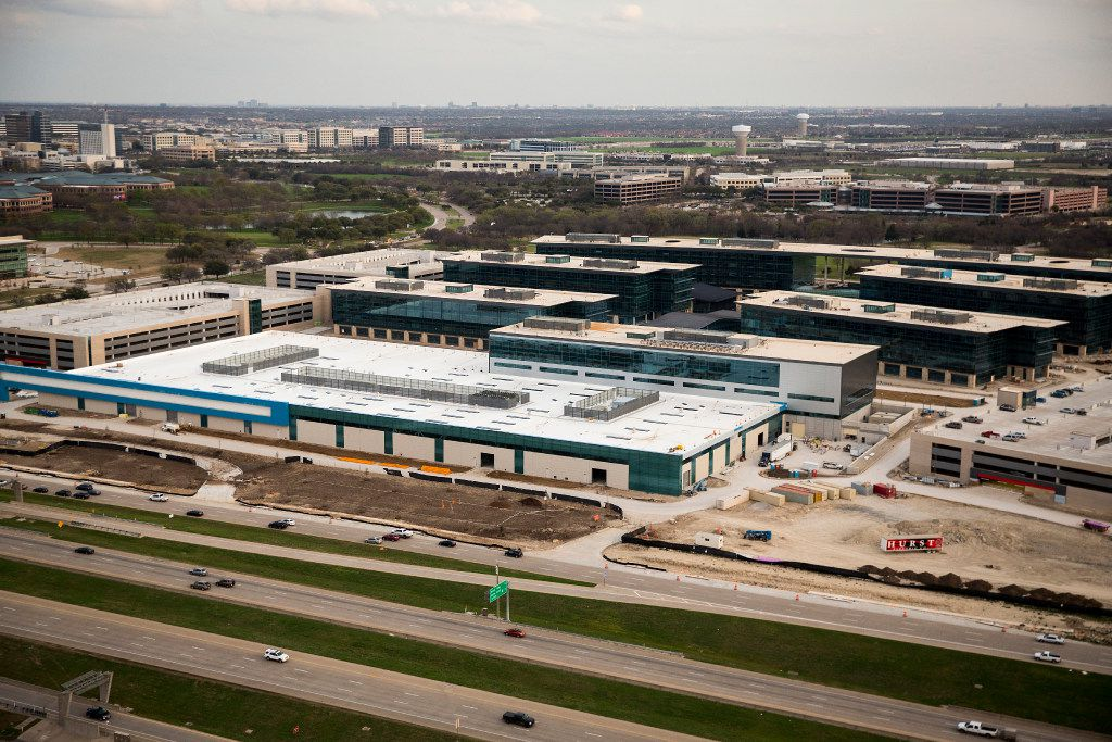 Construction on Toyota's new North American headquarters complex seen on Monday, March 6, 2017, in Plano, Texas. (Smiley N. Pool/The Dallas Morning News)
