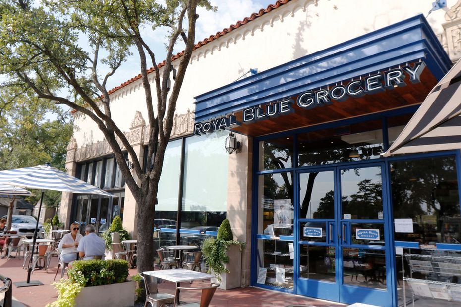 Royal Blue Grocery is a specialty food shop located in Highland Park Village.