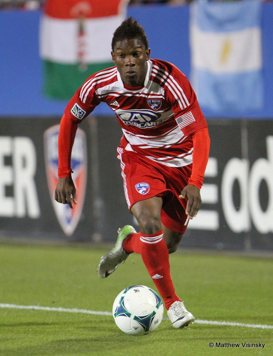 Fabian Castillo prowls the left wing for FC Dallas back in 2013.