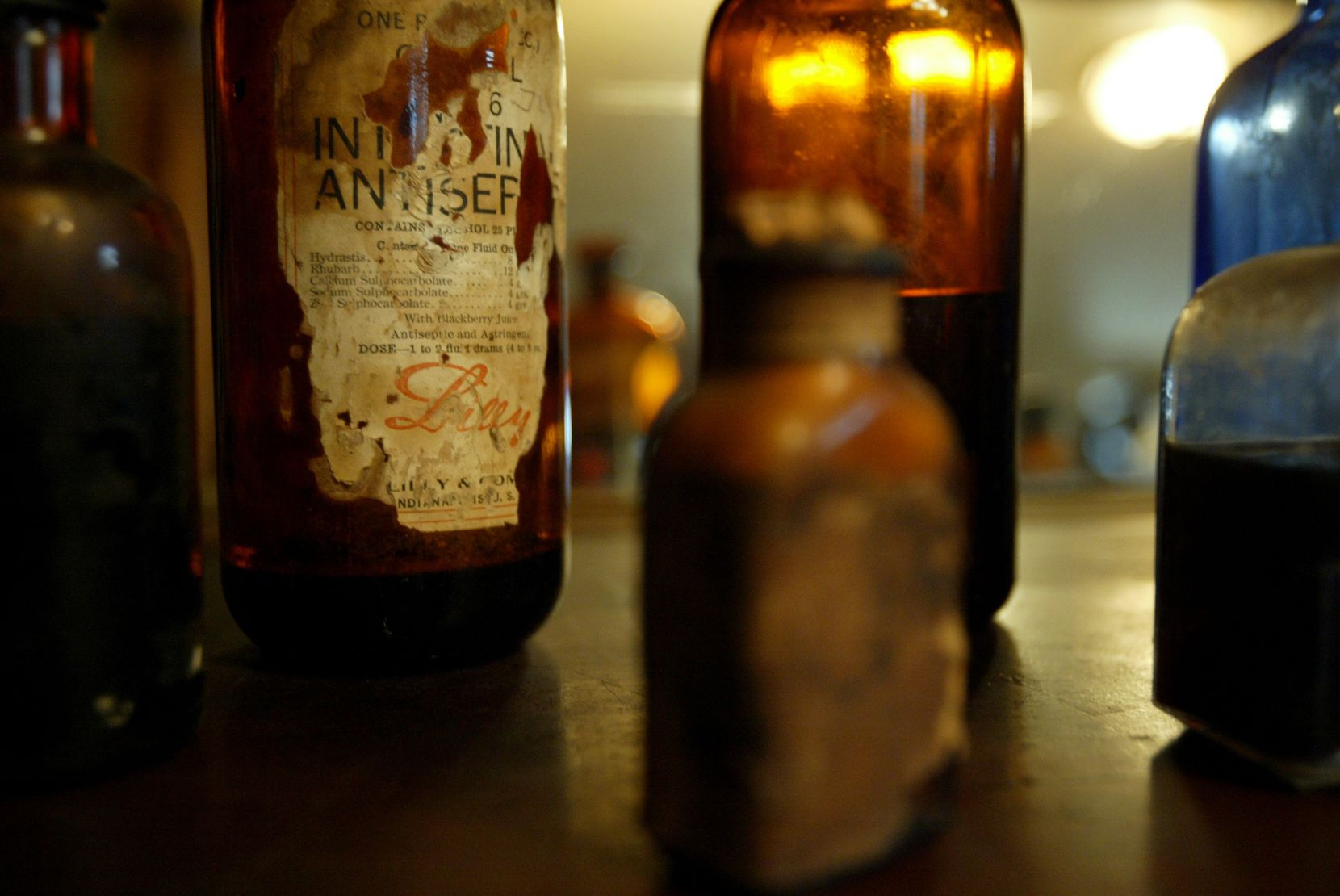 In the Apothecary store at Storybook Ranch, an authentic Western town assembled in McKinney in 1981, there are original pharmaceutical jars from Eli Lilly, some still containing drugs that are over 100 years old.