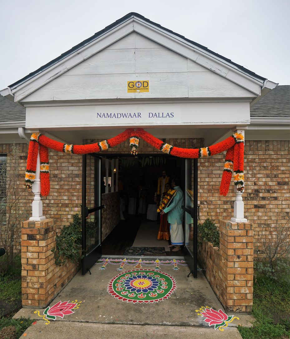 The entrance to the new Dallas Namadwaar in Garland.