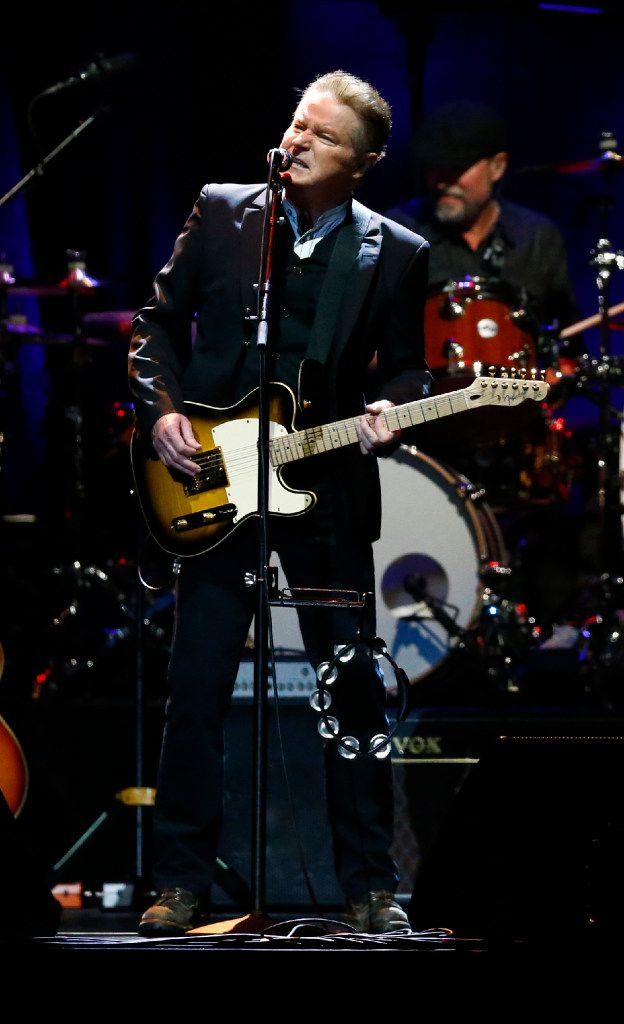 Don Henley performed during his 70th birthday concert at American Airlines Center in Dallas on Saturday.