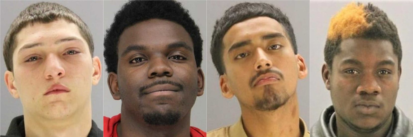 Daniel Jenkins (left) is the last of four men to plead guilty to federal charges in connection with a 2017 scheme that targeted gay men using the Grindr app. The others are (continuing toward right) Michael Atkinson, Pablo Ceniceros-Deleon and Daryl Henry.