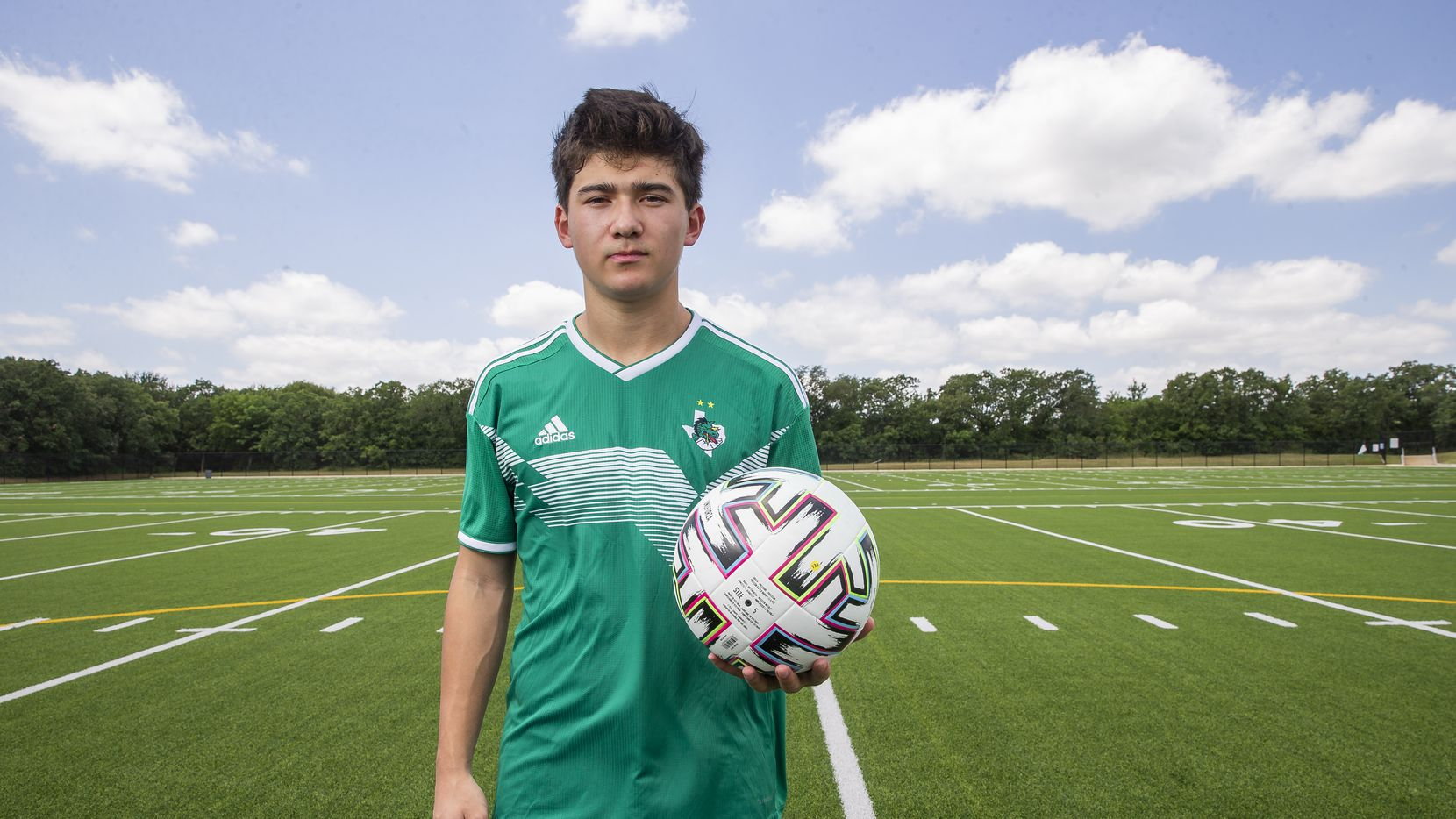 Southlake Carroll senior F/MF Robbie Pino, the 2020 all-area player of the year, poses for a photo on May 14, 2020 in Southlake.